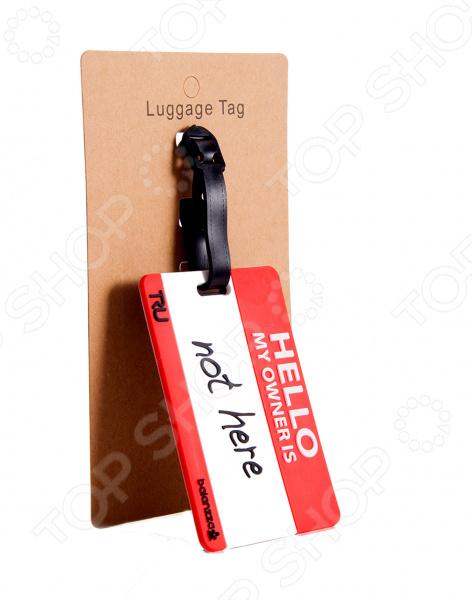 Бирка для чемодана «Привет, ты не мой владелец»