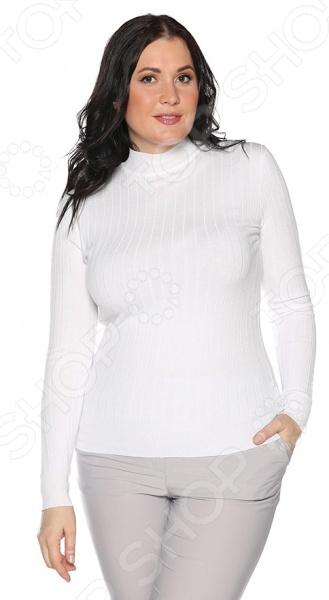 Водолазка Milana Style «Привычный уют». Цвет: белый юбка milana style цвет черный