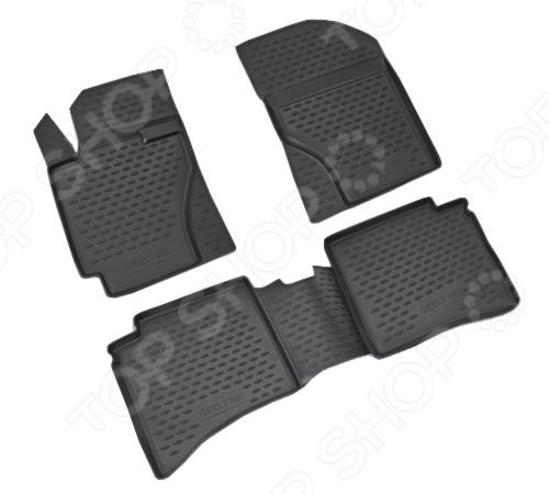 Комплект ковриков в салон автомобиля Novline-Autofamily Geely MK 2006-2012 4 коврики в салон novline ford s max 2006 полиуретан 4 шт s000 10