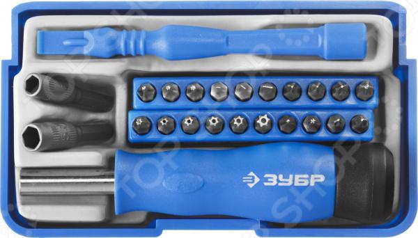 Отвертка для точных работ с набором бит Зубр 25648-H24