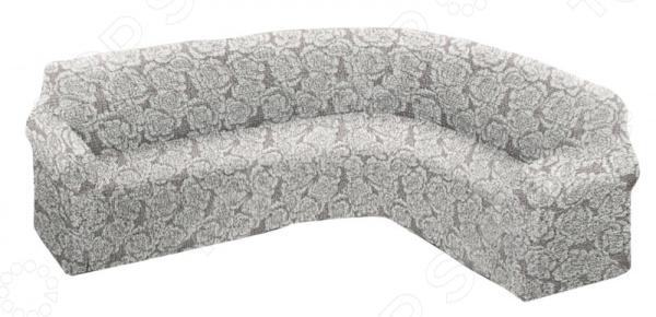 Натяжной чехол на классический угловой диван Еврочехол «Виста. Грация»