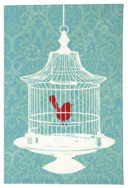 Обложка для паспорта кожаная Mitya Veselkov «Птичка в клетке»