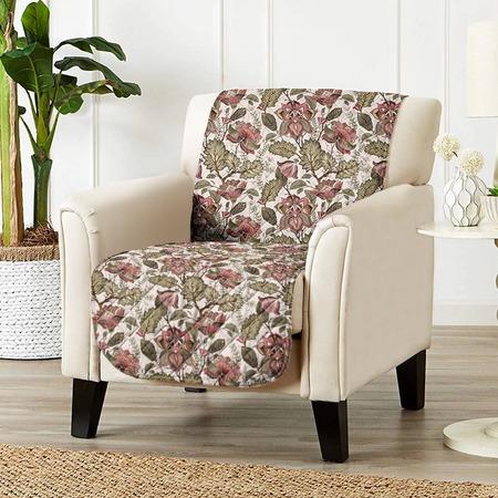 Купить Универсальная накидка «Уютный дом» на кресло. Цвет: бежевый