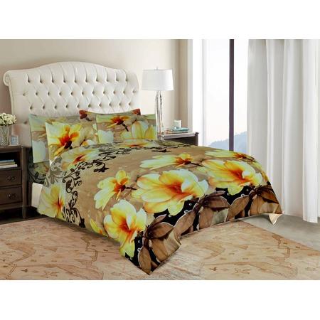 Комплект постельного белья «Желтые цветы». Евро