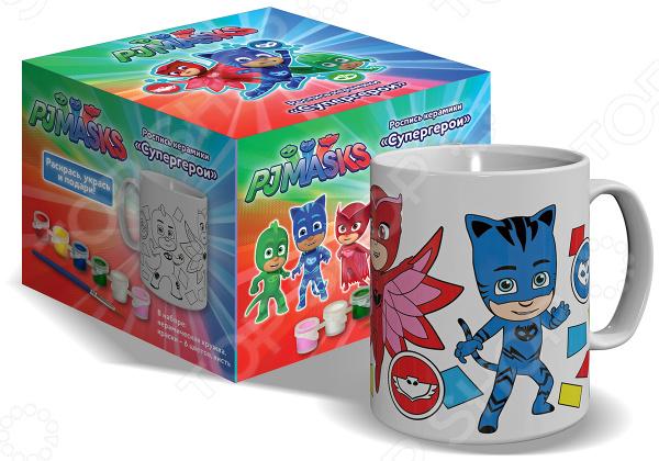 Набор для росписи керамики PJ Masks «Кружка и краски. Супергерои»