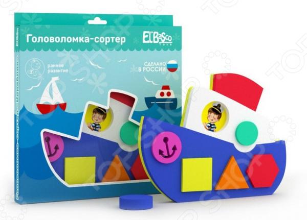 Игрушка-сортер логическая El Basco «Кораблик» игрушки для ванной el basco toys головоломка сортер кораблик