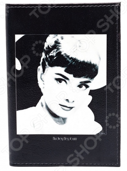 Обложка для автодокументов кожаная Mitya Veselkov «Одри загадочная на черном» цена