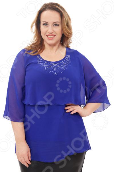 Блуза Матекс «Кария». Цвет: васильковый  туника матекс дыхание нежности цвет васильковый