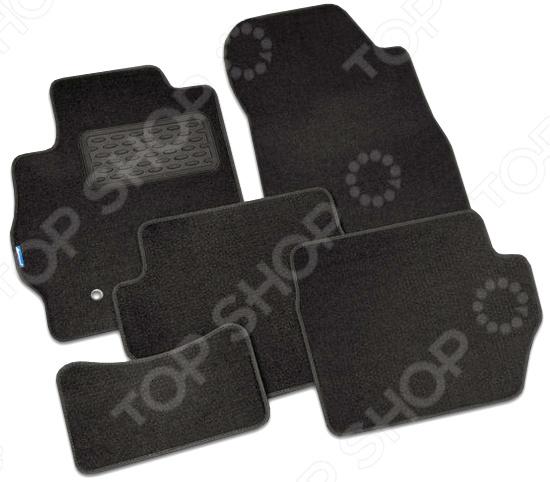 Комплект ковриков в салон автомобиля Novline-Autofamily Mazda CX-9 2007 кроссовер. Цвет: черный автомобильный коврик novline nlc 33 16 210k mazda cx 9 2007 2012