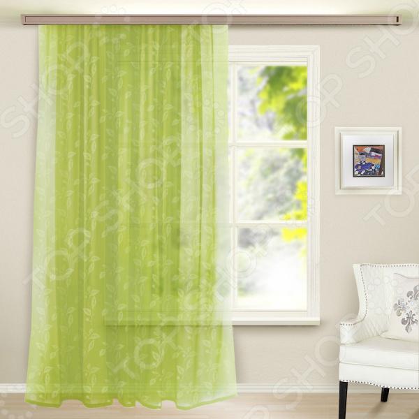 Тюль WITERRA «Листья». Цвет: ярко-зеленый