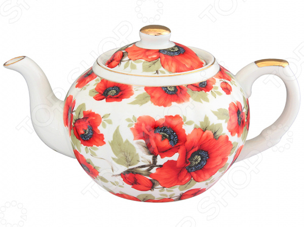 Чайник заварочный с ситом Elan Gallery «Маки»