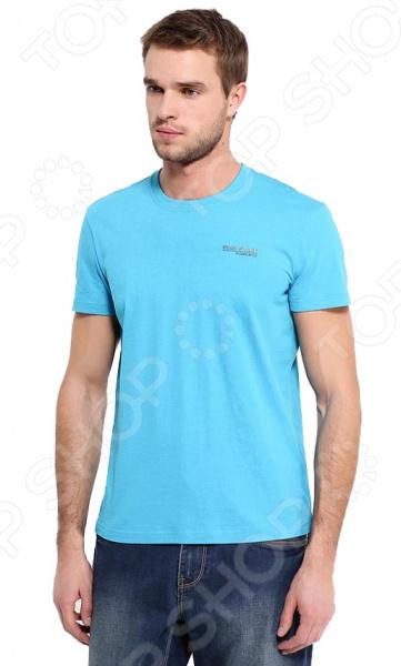 цена  Футболка Finn Flare B17-21022. Цвет: бирюзовый  онлайн в 2017 году