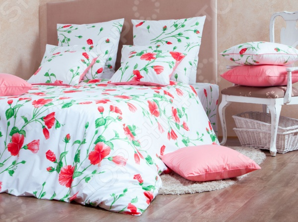 Комплект постельного белья MIRAROSSI Francesca red комплект постельного белья mirarossi veronica pink