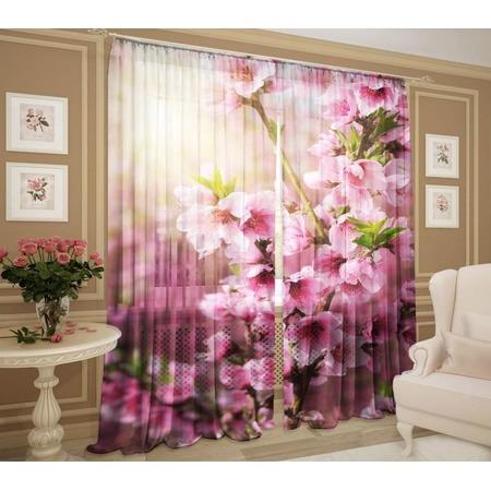 Купить Комплект фототюля ТамиТекс «Цвет вишни»
