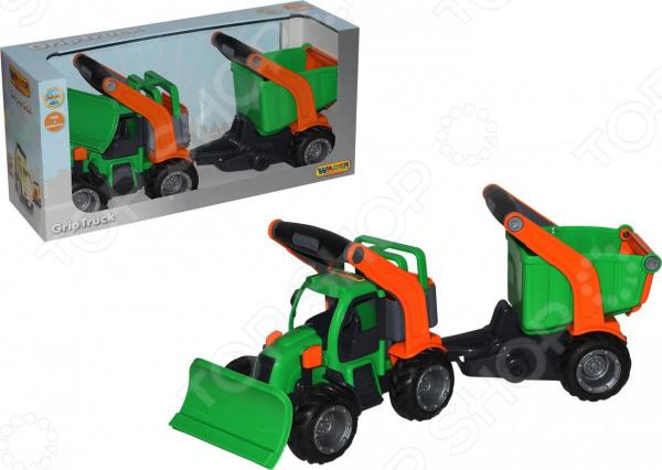 Машинка игрушечная Wader «ГрипТрак. Трактор снегоуборочный с полуприцепом»