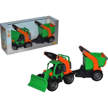 Купить Машинка игрушечная Wader «ГрипТрак. Трактор снегоуборочный с полуприцепом»