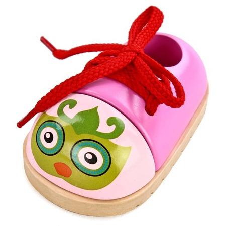Купить Игра развивающая для малыша Mapacha «Шнуровка-ботиночек. Совушка»