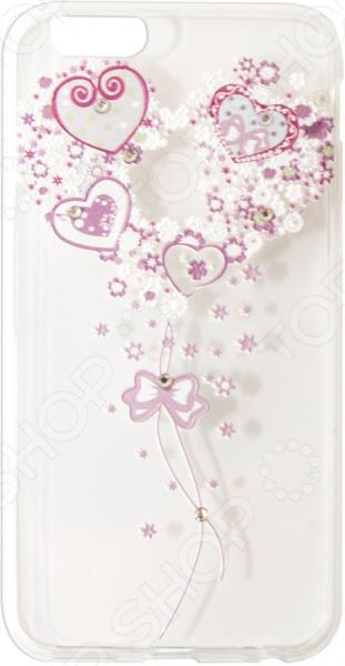 Чехол Smarterra Rhinestones для iPhone 6/6S. Рисунок: сердце 1 gumai silky case for iphone 6 6s black