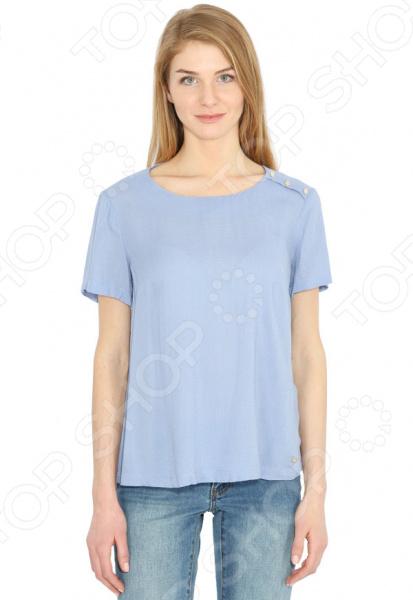 Блуза Finn Flare B17-11052. Цвет: лиловый free shipping 11052 cotton clothing