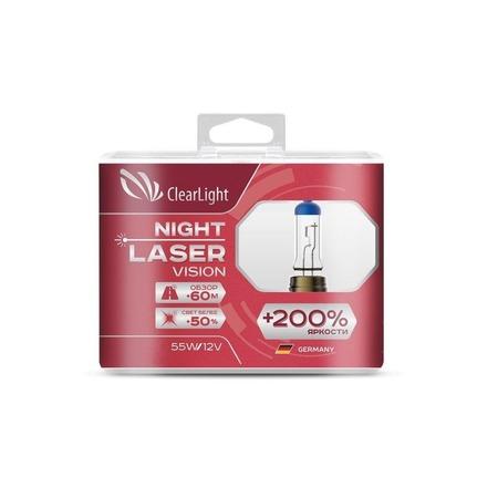 Комплект автоламп галогенных ClearLight Night Laser Vision HB4 12V-55W