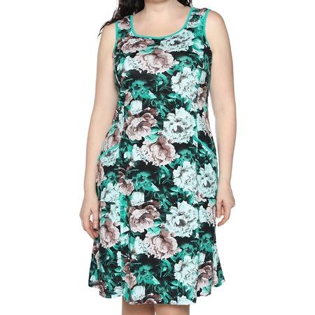 Купить Платье Алтекс «Изобилие цветов». Цвет: зеленый, бежевый