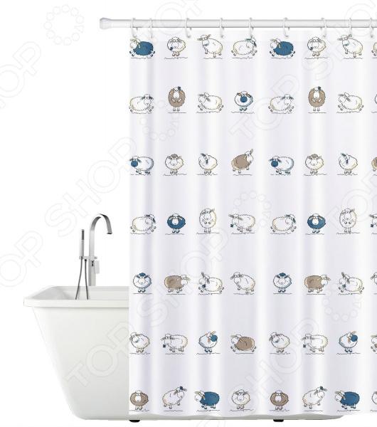 Штора для ванной Tatkraft Funny Sheep