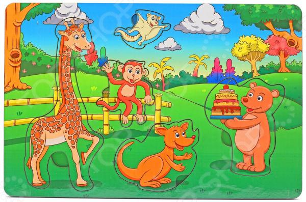 Игра развивающая Мастер игрушек «Рамка-вкладка: День рождения в лесу» игрушка развивающая рамка вкладка транспорт