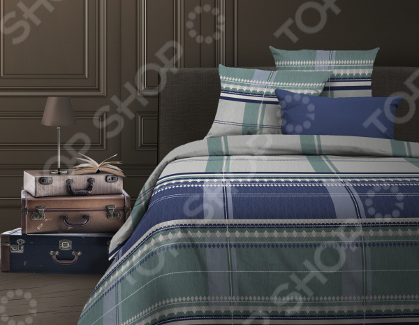 Комплект постельного белья Wenge Kempten. Цвет: синий seeed kempten
