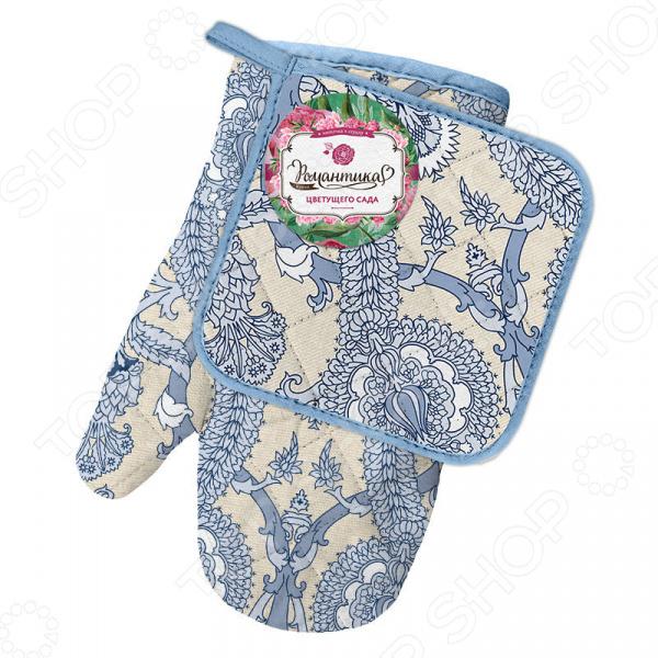 Набор кухонный: прихватка и рукавица Романтика «Птица дивная» рукавицы прихватки фартуки arya набор рукавица прихватка rana цвет зеленый