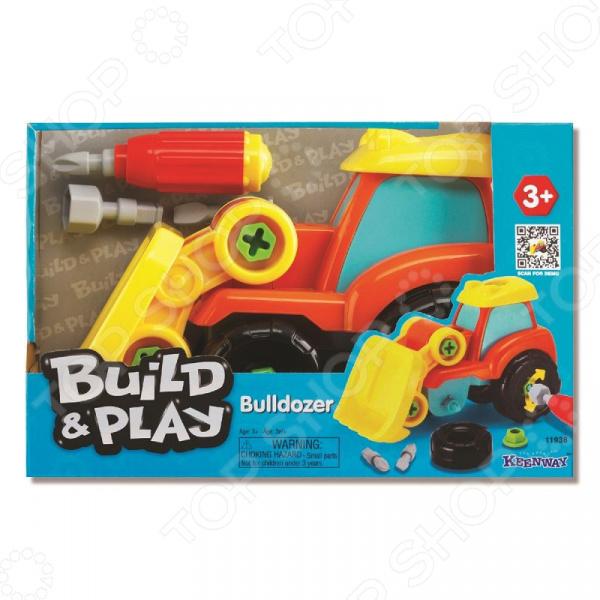 Бульдозер игрушечный Keenway Build & Play
