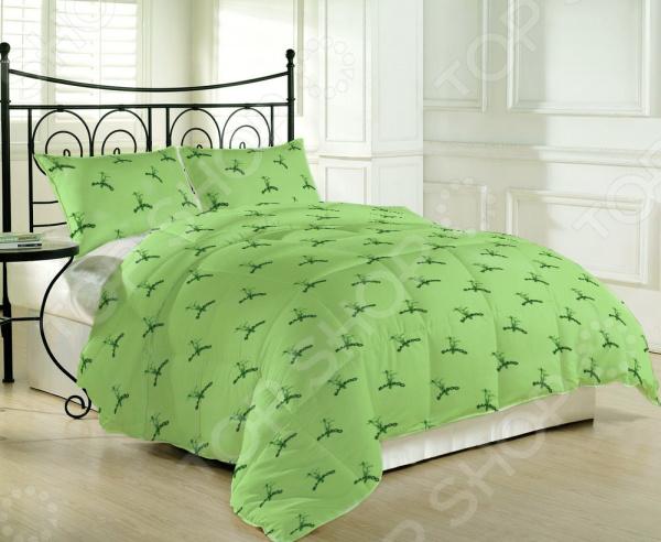 Одеяло-покрывало «2 в 1». Цвет: зеленый