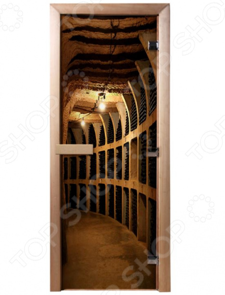 Дверь для бани с фотопечатью Банные штучки «Винный погреб» 32673 двери для сауны ярославль