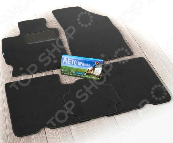 Комплект ковриков в салон автомобиля Klever Nissan Qashqai 2014 РФ Premium
