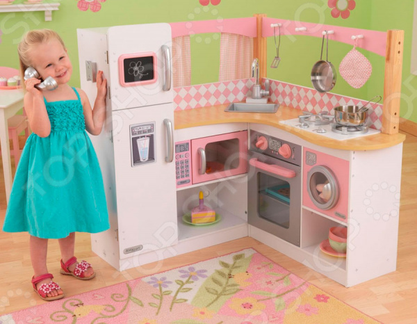 Кухня детская с аксессуарами KidKraft «Изысканный уголок» детская кухня kidkraft игровая кухня для девочки из дерева модерн modern country kitchen