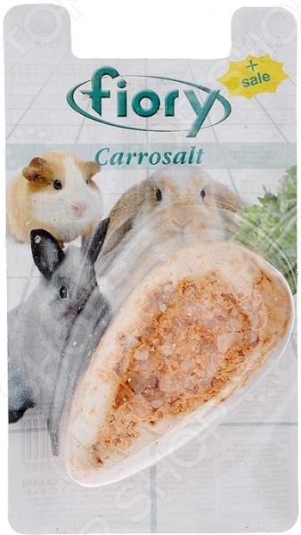 Камень минеральный для грызунов Fiory с солью в форме моркови Carrosalt