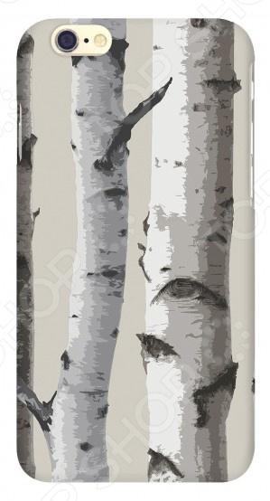 Чехол для IPhone 6 Mitya Veselkov «Березы на сером» чехол для iphone 6 глянцевый printio сад на улице корто сад на монмартре ренуар