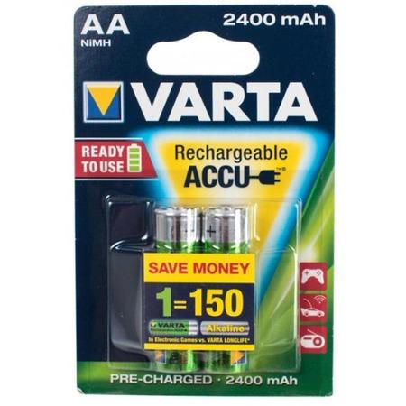 Батарея аккумуляторная VARTA AA R2U 2100 мАч 2 шт.