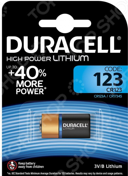 Батарейка Duracell CR123 Ultra High power Lithium