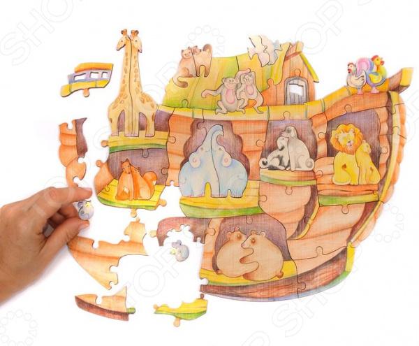 Игрушка-пазл WOODY «Ноев ковчег» woody деревянный пазл ноев ковчег 50 деталей
