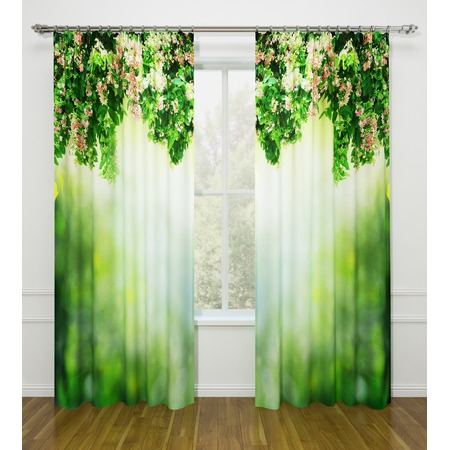 Купить Фотошторы Стильный дом «Зеленый занавес»