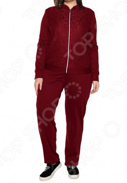 Костюм ТРЕНД «Удачный вечер». Цвет: бордовый блуза тренд радужный блеск цвет бордовый