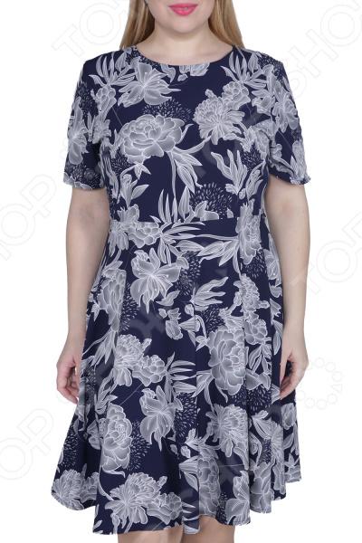 купить Платье ТРЕНД «Нежная особа». Цвет: синий, серый по цене 2499 рублей