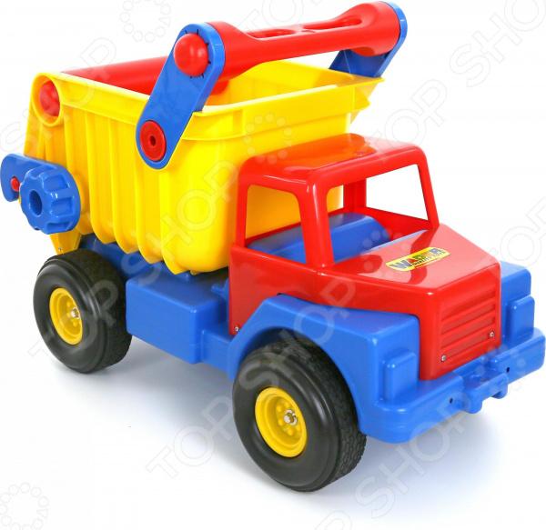 Самосвал игрушечный Wader с резиновыми колесами