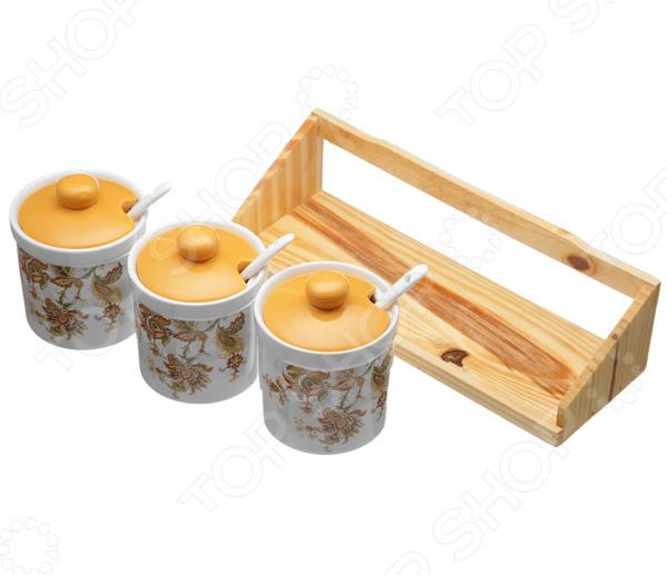 Набор банок для сыпучих продуктов Коралл «Марокканский цветок» банка для специй двухсекционная коралл марокканский цветок