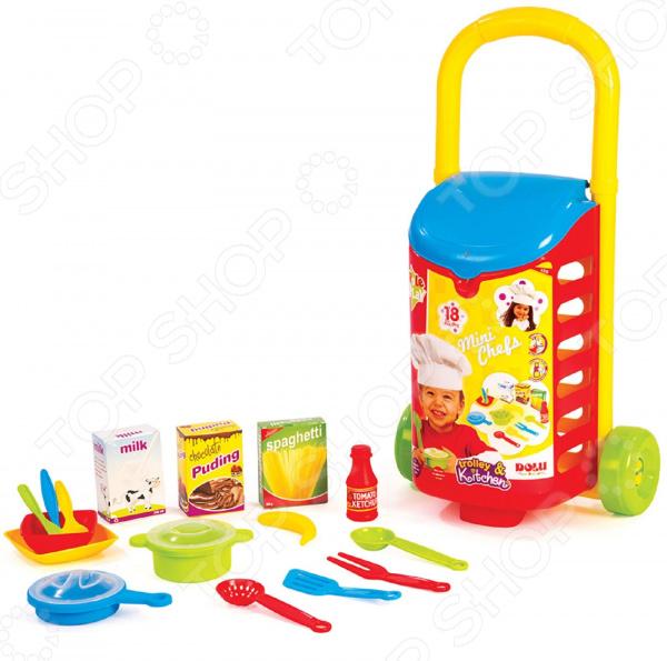 Игровой набор для ребенка Dolu с закрытой тележкой