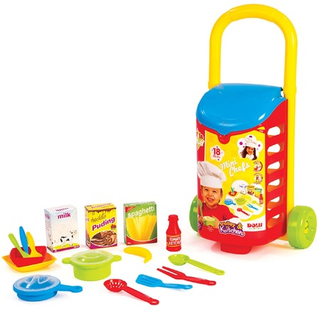 Купить Игровой набор для ребенка Dolu с закрытой тележкой