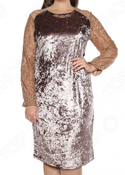 Платье Pretty Woman «Феличита». Цвет: бежевый платье valentino red платья и сарафаны кружевные ажурные и гипюровые