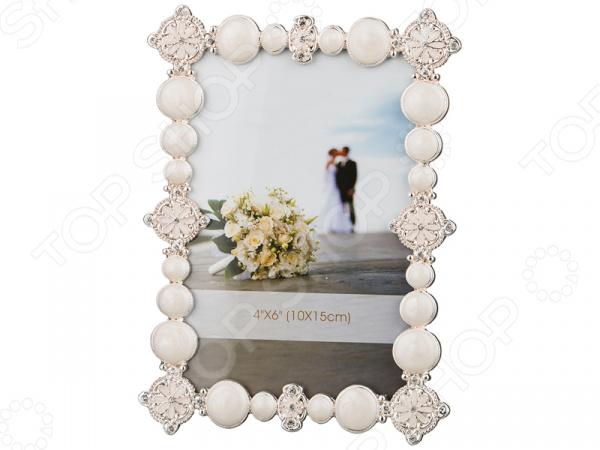 Фоторамка 363-501 рамка для фотографий в подарочной упаковке elff ceramics цвет серебряный металлический