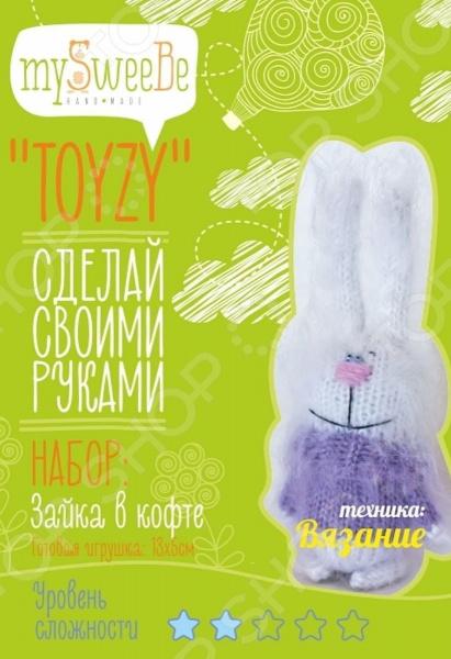 Набор для изготовления мягкой игрушки mySweeBe «Зайка в кофте»