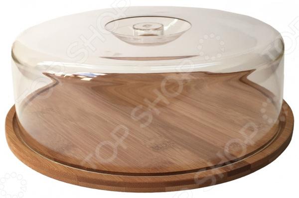 Тортница Oriental Way BNB4559 будет отличным дополнением к набору вашей сервировочной посуды. Выполненная из натурального бамбука она прекрасно подойдет для подачи и хранения тортов, пирогов и чизкейков. Состоит тортница из круглого поддона и прозрачной пластиковой крышки. Наличие последней позволяет уберечь торт от высыхания, преждевременной порчи и впитывания посторонних запахов.  Особенности и преимущества  Оригинальный дизайн  Поддон из древесины бамбука.  Крышка из прозрачного пластика с ручкой. Oriental Way синоним качества Торговая марка Oriental Way сочетает в себе неизменно высокое качество и приемлемые доступные цены. На рынке она существует уже более 15 лет, пользуется неизменным успехом у потребителей и постоянно расширяет свой ассортимент. Инновационные технологии и проверенные безопасные для здоровья материалы вот основные принципы бренда Oriental Way.